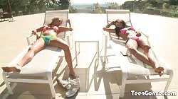 TEENGONZO Carter Cruise and Adriana Chechik threesome sex