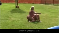 Angry cheated wife spanks her hubby's bitchy mistress