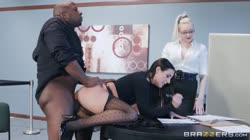 Brazzers - BigTitsAtWork - Angela White - Full Service Banking