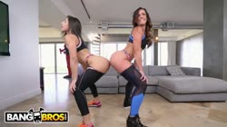BANGBROS - Kelsi Monroe VS Abella Danger, Twerking and Fucking