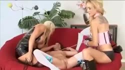 Wicked lesbians force innocent girl in to threesome