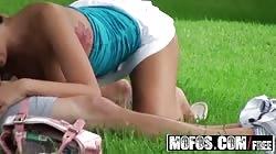 MOFOS - Alexis Grace fucks her bf out in a public park